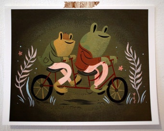 Frog & Toad print