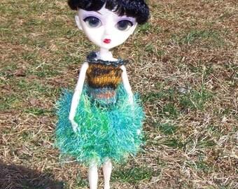 Handknit Dress for Tangkou and Blythe