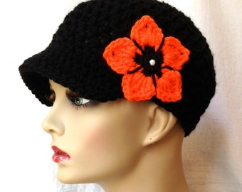 Puerto Rico Relief, 50% Proceeds to American Red Cross, Women Newsboy Black hat, Oregon State, University of Tennessee, Princeton JE2N6