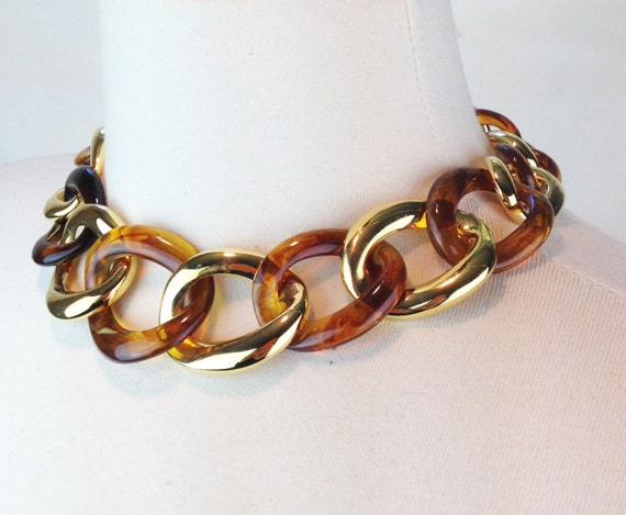 vintage 1990s kenneth jay lane costume jewelry amber by On kenneth lane vintage jewelry
