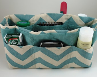 Purse Organizer Insert-Chevron Fabric - Five sizes available- OtherChevron colors available-See drop down menu for choices