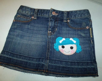 Lalaloopsy Mittens Fluff N Stuff Eskimo Lalaloopsy Rag Doll Girl Face Denim Jean Skirt