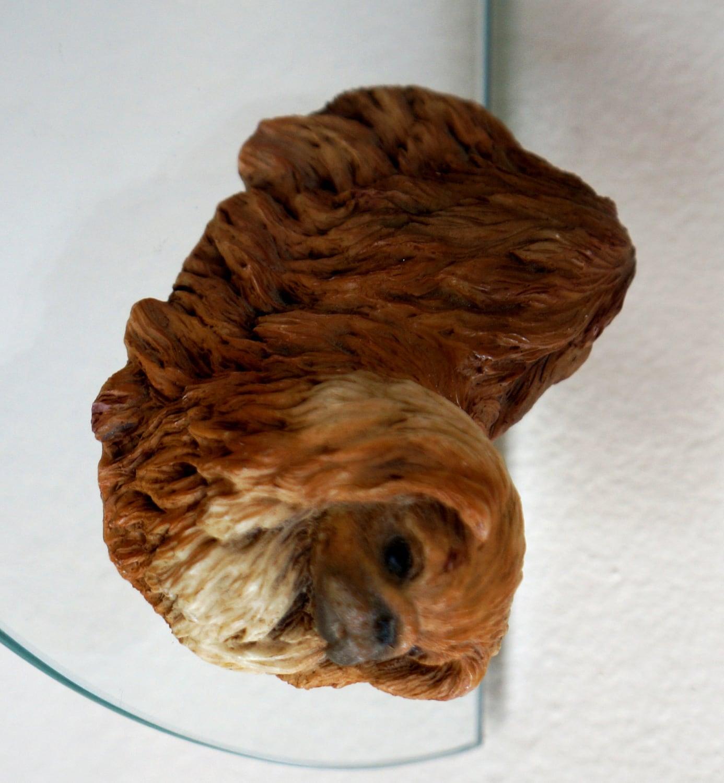 Vintage Pekingese Figurine Castagna Peke Lion Dog Pelchie Hand