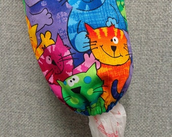 Neon Cats Plastic Bag Dispenser