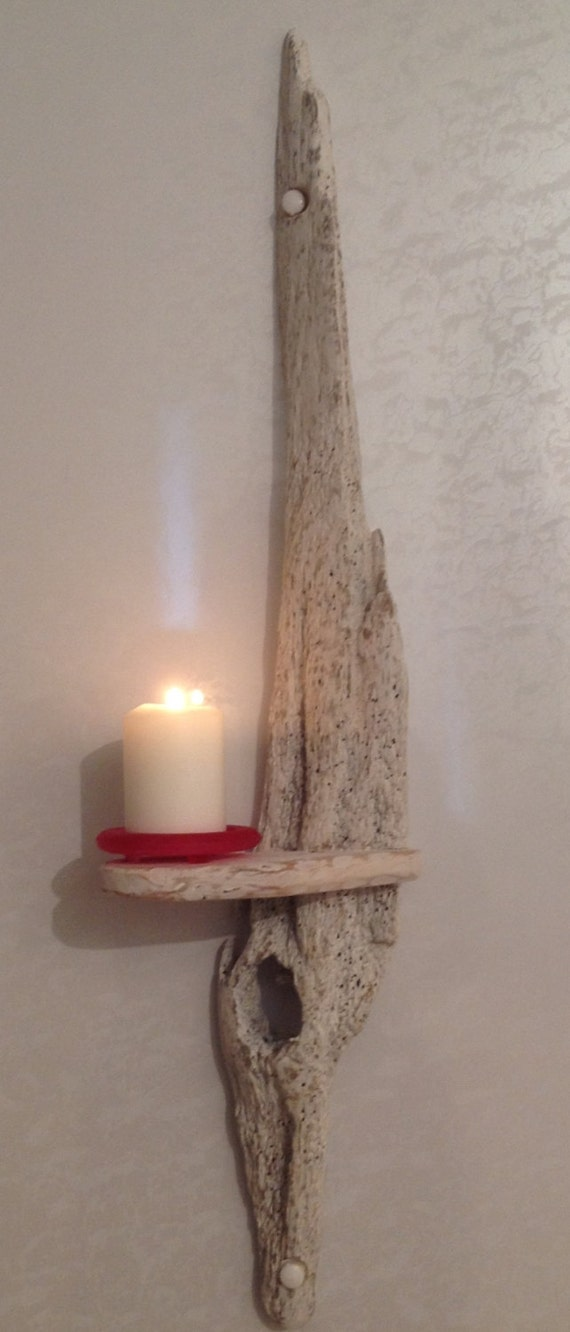 Driftwood sconce candle holder art crafts sculpture for Arts and crafts candle sconces