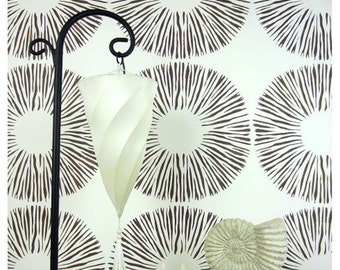 Spore Print Allover Stencil - Reusable stencils for  DIY wall decor - better than wallpaper!