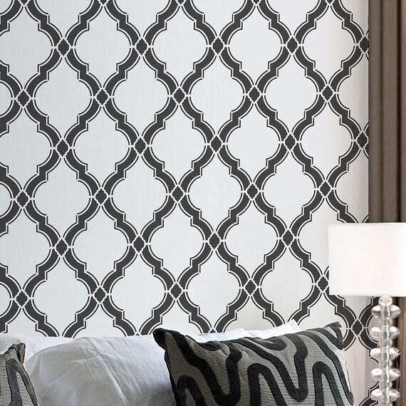 Agora allover stencil small reusable wall stencils for for Agora decoration
