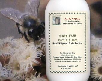 HONEY FARM Honey Almond Lotion - Best Honey Almond Handmade Lotion