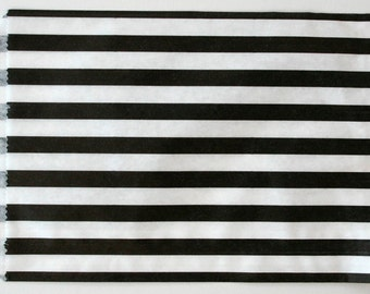 Set of 25 - Traditional Sweet Shop Black Stripe Paper Bags - 7 x 9 New Style