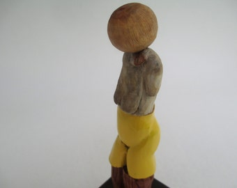 Mixed-Media, Handcarved, Woman, Unique Sculpture Gift