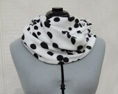 Dalmation Dalmatian Print Infinity Fleece Scarf