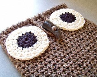 Crochet iPad Sleeve Pattern, Crochet PATTERN, Crochet iPad Cover Pattern, Owl iPad Case Pattern, Tablet Cover Pattern, Crochet Bag Pattern