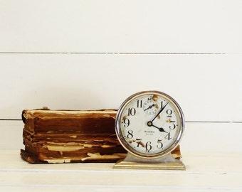 Vintage Westclox Ben Hur Alarm Clock Great Patina
