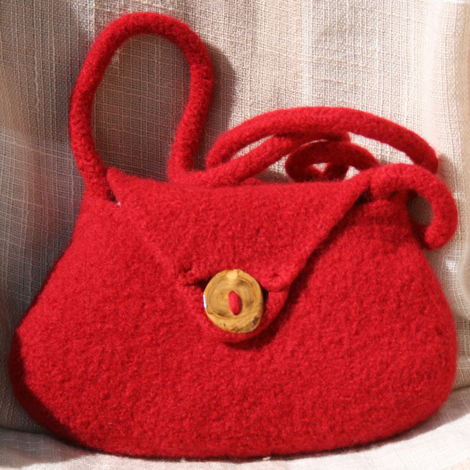 Pattern Felt Purse Hand Knit Felted Purse by leedrasheirloomgoods