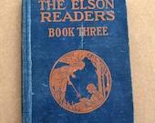 The Elson Readers Book Three - Vintage Children's School Book (1930)