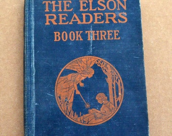 The Elson Readers Book Three - Vintage Children's School Book (1930)