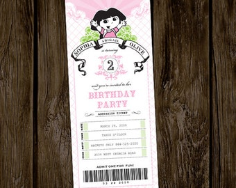Dora Birthday Party Invitation