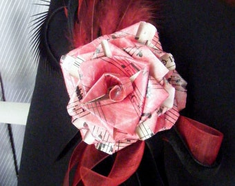 Paper ROSE Corsage or Boutonniere - fully personalized