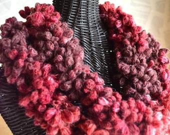 Sangria Flowers Knit Scarf