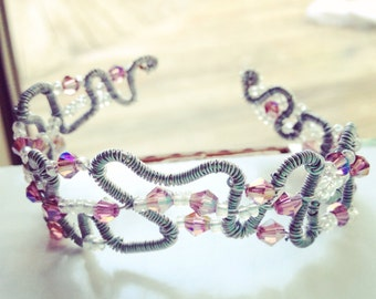 Funky Wire Wrapped Tiara Bracelet
