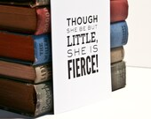 Shakespeare Quotation Notecard / She is fierce!