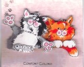 Calico Companions, Cat Fabric Pin