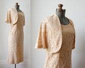 Pink Etude dress and jacket  • 1960's Dress and Jacket set • Pink Lace Set