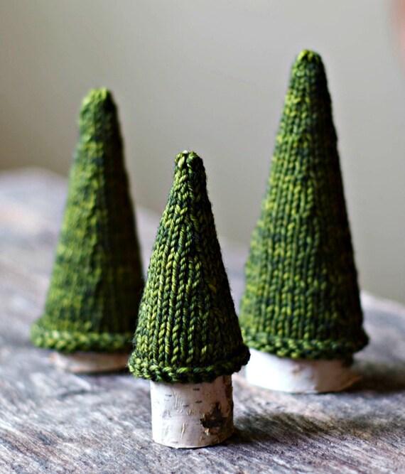 Knitting Pattern - Jack Pine Tree - Knit Christmas Tree - Holiday Decor - Kni...