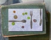 Peas and Olives // Single Card // Fawnsberg Stationery