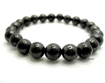 Shungite Bead Stretch Bracelet