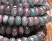 Cotton Candy Swirl Faceted Rondelles 3x5mm - 10pc