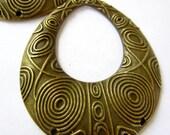 4 Lg Bronze earring chandeliers bohemian gypsy tribal dangles 52mm x 59mm B1210-G5