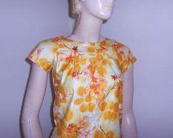 1960's Yellow/Orange Hawaiian Dress for XS Woman