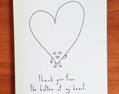 Thank You From The Bottom Of My Heart - Handmade Card