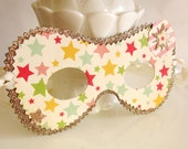 Retro Circus Star Paper Mask Costume Decoration or Party Favor