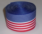USA Flag Stripe 1.5 inch Grosgrain Ribbon