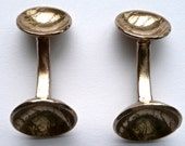 Etched Bronze Cufflinks, 8th Wedding Anniversary
