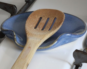 Sky Blue Ceramic Spoon Rest | Made to Order