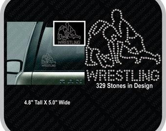 Wrestling Rhinestone Car Decal