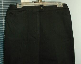 Lacoste High Waisted Black Mini Skirt