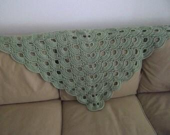 Crocheted Triangle Shawl