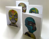 Lucha Libre Ghost Baby Series Cards (Semi Gloss)