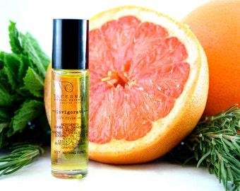 Invigorate Roll-On Body Oil - Natural Aromatherapy Oil - Gifts Under 15 - Holistic - Energizer - Stocking Stuffer - Secret Santa