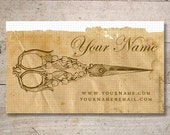 Business Cards - Custom Business Cards - Jewelry Cards - Earring Cards - Display Cards - Vintage Scissors, Sewing - No.10
