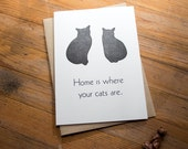 Home is Where Your Cats Are - A7 Letterpress Card