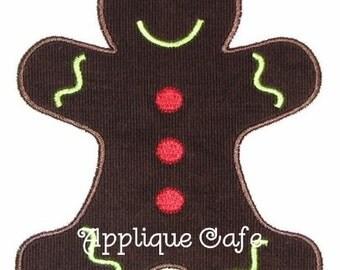 051 Gingerbread Man Machine Embroidery Applique Design