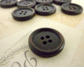 Dark Round Wooden Buttons - 7/8 Inch - Pack of 10