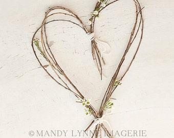 Wooden heart  8x10 art print