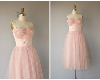 1950s Formal Dress | 1950s Dress | 50s Party Dress | 50s Prom Dress- size small