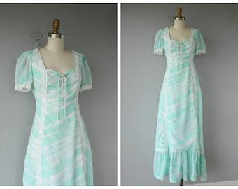 70s Maxi Dress | 1970s Dress | Novelty Print Dress | Vintage 70s Dress | Prairie Dress | Vintage Maxi Dress